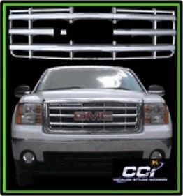 2007 2010 GMC Sierra Chrome Grille Insert OEM Fit
