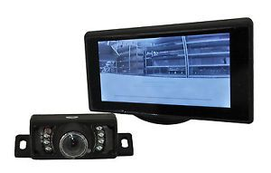 "Universal Motorcycle Rear View Camera System Kit 4 3"" Monitor GSXR CBR YZF ZX"