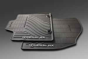 2013 Up Lexus RX350 All Weather Black Rubber Floor Mats Genuine OEM Factory