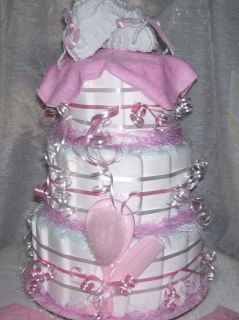 Girl Baby Shower Pink Diaper Cake Hello Kitty Table Decoration Party Favor Gift