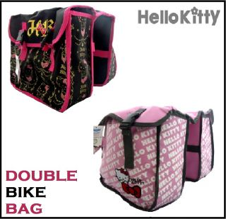 New Hello Kitty Bicycle Bike Cycle Pink Black Twin Double Rear Rack Pannier Bag