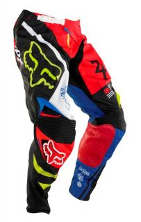 New 2014 Fox Racing 360 Intake Pants Black Red 06399 017 Motocross ATV