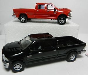 Pair Ertl 1 64 Black Dark Red 2012 Dodge RAM Magnum Pickup Truck New