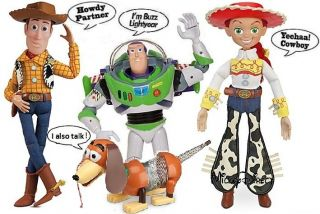 Disney Toy Story 3 Talking Woody Jessie Buzz Slinky Dog Action Figure Dolls