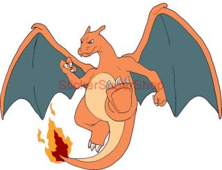 Choose Size Charizard Pokemon Decal Removable Wall Sticker Home Decor Art Room