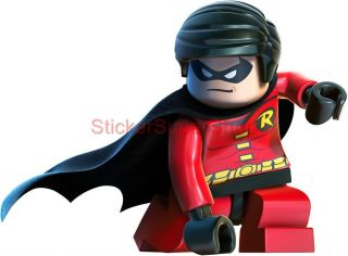 Lego Robin Batman Decal Removable Wall Sticker Home Decor Art Game Bedroom Kids