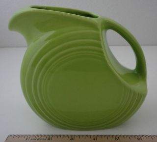 Fiesta Ware Chartreuse Mini Disc Pitcher HLC USA Fiestaware