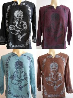 Ganesh Ganesha OM Meditation Men T Shirt Thin Cotton L GT01