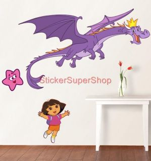 Dora Dragon King Set Choose Your Size Disney Decal Removable Wall Sticker