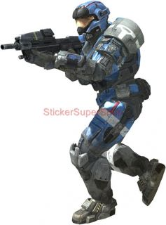Master Chief in Action Halo 4 Decal Removable Wall Sticker Decor Art Reach Game
