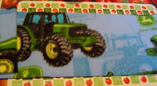 John Deere Blue Tractor Fleece Scarf 5 ft Long New