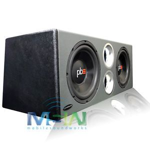 "New Powerbass® PS WB10 Ported Loaded Subwoofer Enclosure Box w 2 10"" Car Subs"