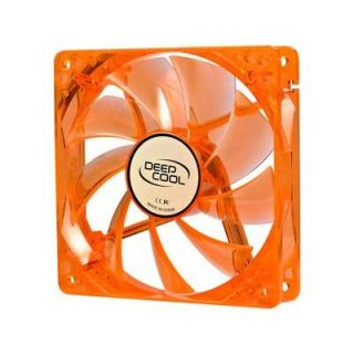 Logisys CF120OG 120mm Orange Fan with Green LED 3 4 Pin