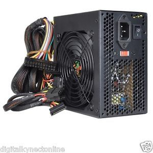 Logisys 550W 20 4 Pin ATX Power Supply w SATA Large 120mm Ball Bearing Fan