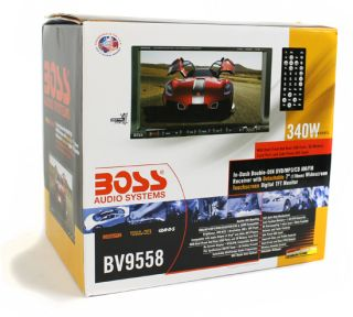 "New Boss BV9558 7"" Double DIN DVD CD  Receiver 10"" 1200W Sub 8 GA Amp Kit"