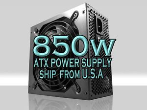 New 850W Gaming 120mm Fan Silent ATX PowerSupply SATA PCI E 12V Intel AMD i5 I7