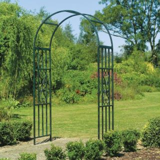 Sturdy Outdoor Garden Yard Decor Green Weather Resistant Classic Arch Archway
