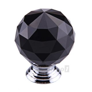 Round Crystal Glass Cabinet Drawer Door Pull Knob Handle 30mm 40mm