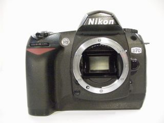 Nikon D70 Body 6 1 MP w Memory Card Battery Strap BS 1 DK 5 Body Cap
