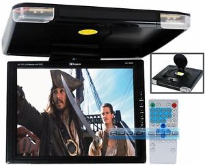 "Car 14"" Drop Down Overhead Ceiling Mount LCD Screen Monitor Built in DVD Player"