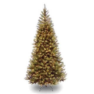 Pre Lit Aspen Spruce Artificial Christmas Tree Clear Lights from Brookstone
