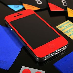 Red Bricson Colorshield iPhone 4 4S Anti Glare LCD Screen Protector Skin