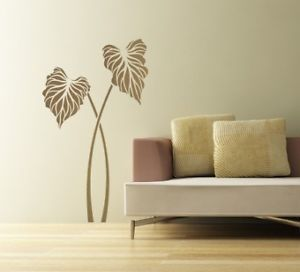 Large Wall Stencil Caladium Reusable Easy Home Decor