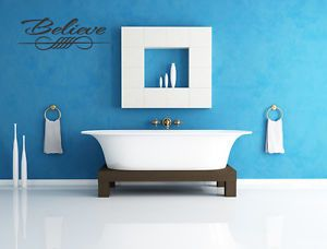 Believe Vinyl Wall Quote Decal Modern Home Decor Sticker