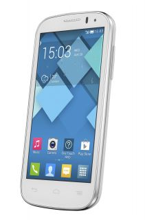"Alcatel OT 5036D One Touch Pop C5 White 5 Megapixel 4 3"" Display Dual Sim Phone"