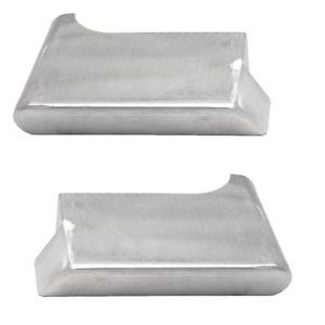 Tracker Brushed Alumium Port STBD Boat Corner Brackets Set of 2