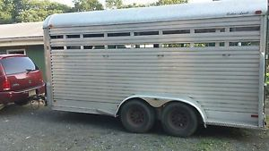 2003 16ft Aluminum Stock Horse Trailer
