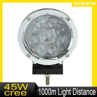 7inch 60W CREE LED Flood Work Light Off Road Vehicle SUV Ute Jeep Boat Lamp New