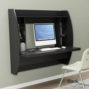 Floating Wall Mounted Home Office Computer Desk with Storage