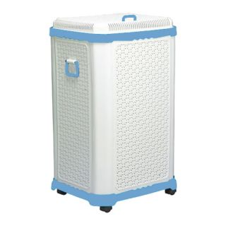Prime Fancy Box Big Toy Storage Foldable Laundry Basket on Wheels H 117 Lt Blue