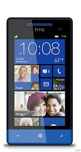"New HTC 8x C620E 16GB Unlocked GSM Phone Windows 8 OS 4 3"" HD Display 8MP Camera"