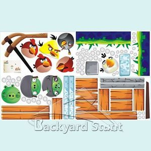 New Angry Birds Wall Stickers Decal Children Office Class Home Decoration HQ USA