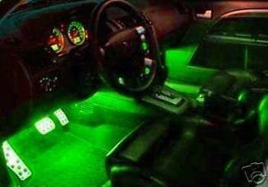 Green LED Interior Lights Ford Cars Trucks SUVs Vans