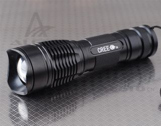 1800 Lumens CREE XM L T6 LED Zoomable Flashlight Torch 26650