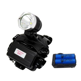 CREE XM L T6 LED Headlight Head Light Lamp 1800Lm 2 x Battery Charger US Stock