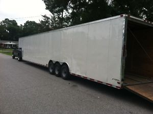 2012 48ft Gooseneck Typhoon Hurricane Enclosed Trailer Used