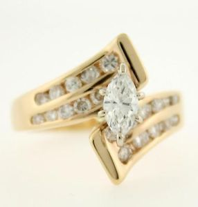 I4 Karat Yellow Gold 1 01 Carat T w Fine Diamond Engagement Ring Must See