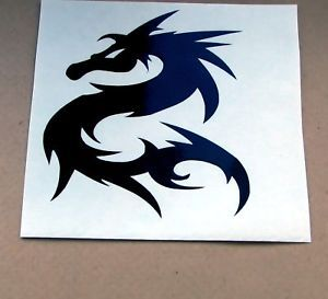 1 Tribal Dragon Snowboard Car Sticker Decal Die Cut S1
