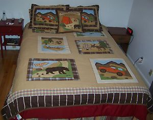 Woolrich Kids Outdoor Adventures Campground Bedding Full Complete Set