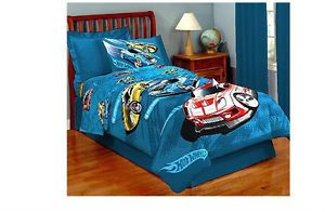 Hot Wheels Twin Comforter Bedding Sleep Kids Car Sleeping Blanket New