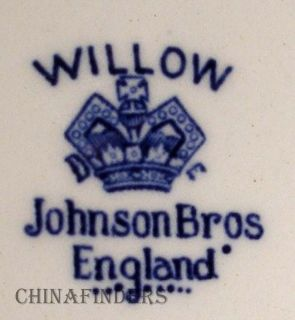 Johnson Brothers China Willow Blue Vegetable Bowl Lid