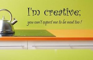 I'M Crreative Funny Kitchen Dining Room Quote Wall Art Decal Sticker Vinyl