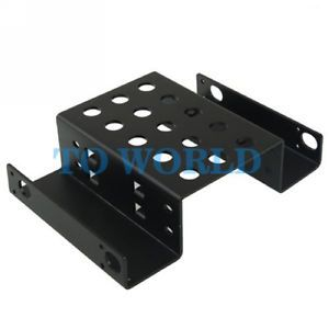 "2 5"" IDE SATA SSD HDD Hard Drive Converter Adapter Rack Bracket Tray"