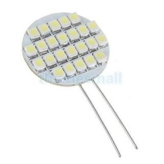5pcs 12V 24 SMD LED G4 Base White Light Bulb for Car Home Outdoor Landscaping