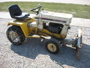 "Old Cub Cadet 129 Riding Lawn Mower Garden Tractor Snow Blade 44"" Mowing Deck"