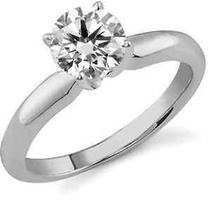 2 3 Ct Real Diamond Jewelery Prong Set 14k White Gold Engagement Wedding Ring